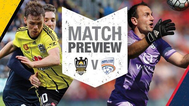 Wellington Phoenix midfielder Michael McGlinchey and Adelaide United captain Eugene Galekovic.