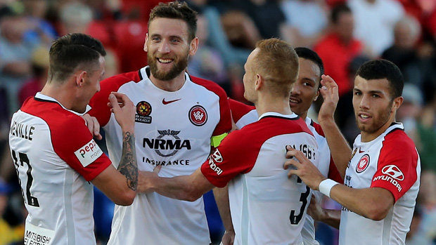 Robbie Cornthwaite netted a brace in the Wanderers' 3-0 win over the Jets.