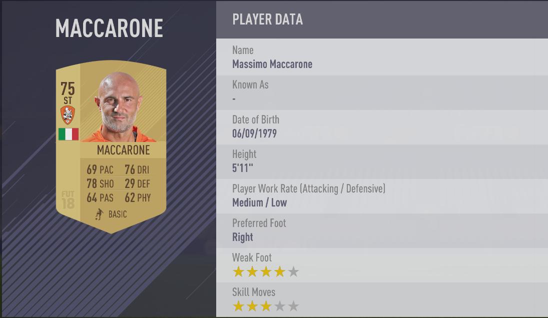 Massimo Maccarone- FIFA 18