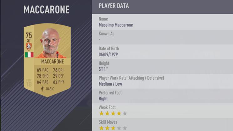 Massimo Maccarone - FIFA 18
