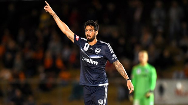 Defender Rhys Williams in action for Melbourne Victory.