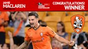 Jamie Maclaren was named the NAB Young Footballer of the Year.