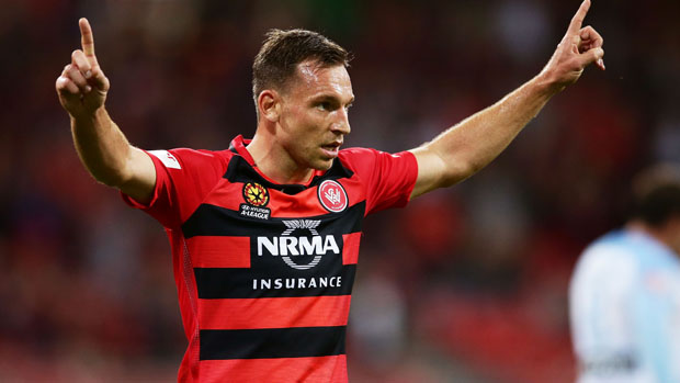 Brendon Santalab has been named Western Sydney Wanderers' player of the year.