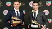 Besart Berisha and Jamie Maclaren were among the award winners at the Dolan Warren Awards on Monday night.