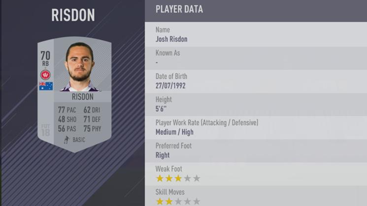 Josh Risdon - FIFA 18