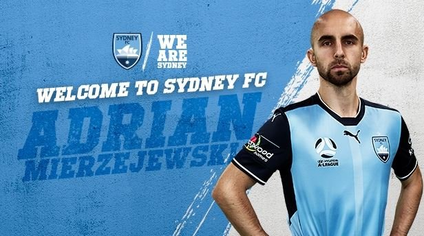 Hyundai A-League champions Sydney FC have signed Polish international winger Adrian Mierzejewski.