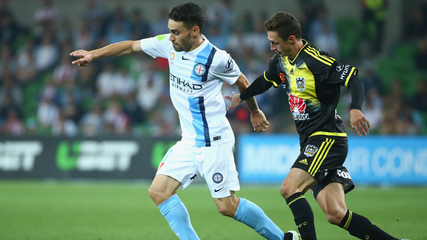 Anthony Caceres returns from suspension this weekend for Melbourne City's clash with Victory.