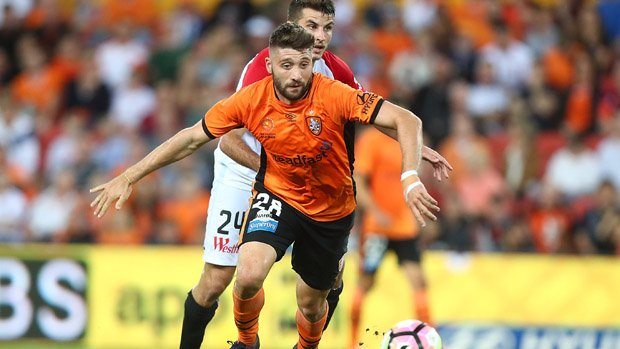 Brandon Borrello was one of the Roar's best in their win over Western Sydney Wanderers.