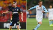 Jake McGing (Central Coast Mariners) and Neil Kilkenny (Melbourne City).