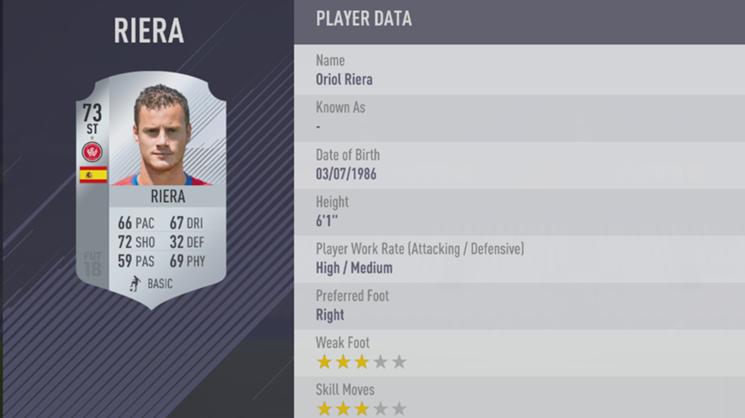 Oriol Riera - FIFA 18