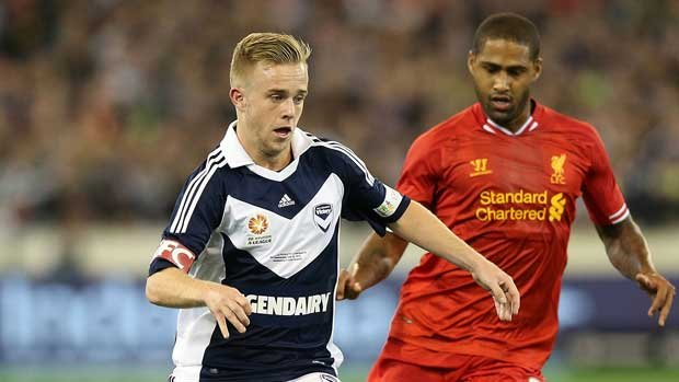 Connor Pain was just 19 when he played for Ange Postecoglou's Melbourne Victory against Liverpool in front of over 95,000 fans at the MCG.