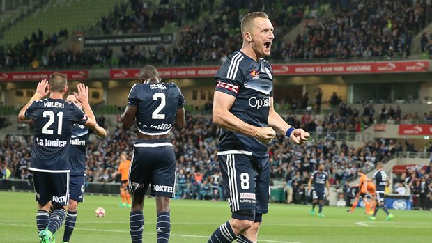 Besart Berisha was the hero for Melbourne Victory in their semi final win over Brisbane Roar.