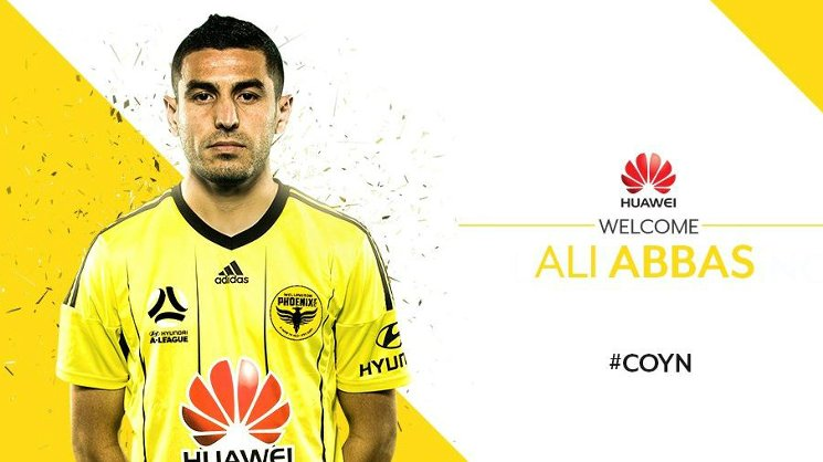 Ali Abbas has signed a two-year deal with Wellington Phoenix for the upcoming Hyundai A-League season.