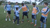 Yoshi with some of the stars from Sydney FC.