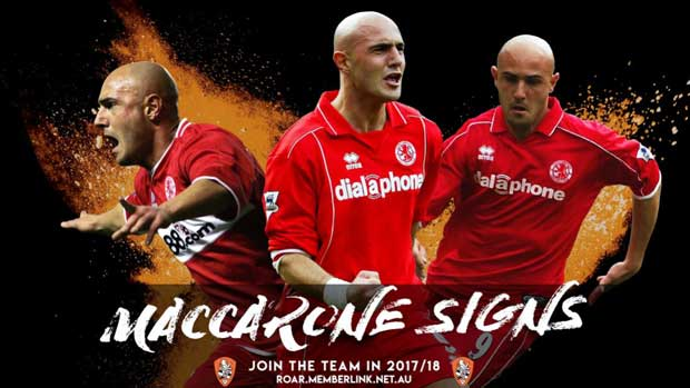 Maccarone to join Brisbane Roar, confirms Aloisi