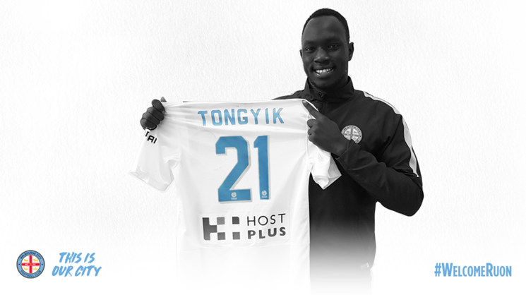 Melbourne City defender Ruon Tongyik