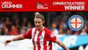 Melbourne City FC's Larissa Crummer was named the NAB W-League Young Footballer of the Year.