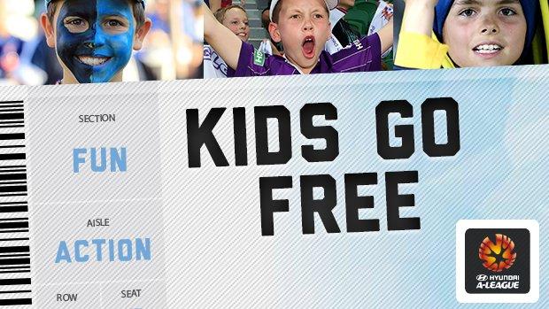 A-League kids go free offer.