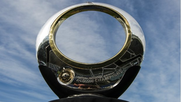 The Hyundai A-League Championship trophy.