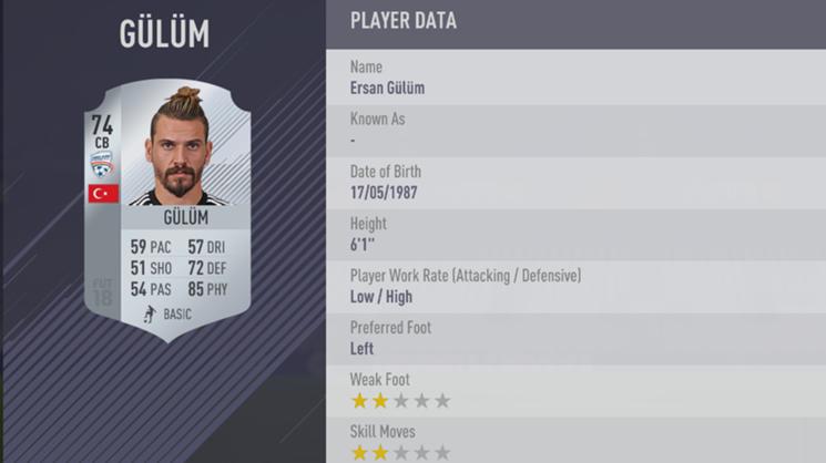 Ersan Gulum - FIFA 18