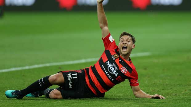 Brendon Santalab become the Wanderers' greatest ever goalscorer after his strike against Wellington Phoenix.