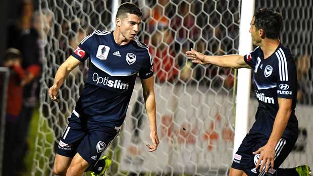 Mitch Austin scored a brace in Victory's 5-2 pre-season friendly win over Oakleigh Cannons.