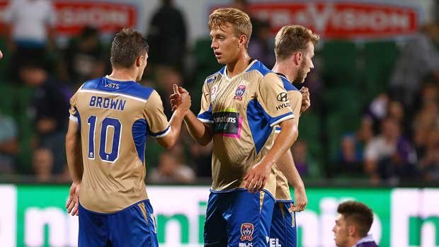 Kristian Brymora during his time at the Newcastle Jets in the Hyundai A-League 2016/17 Season.