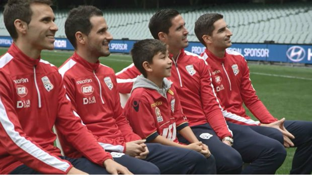 Yoshi during his visit to Adelaide United.