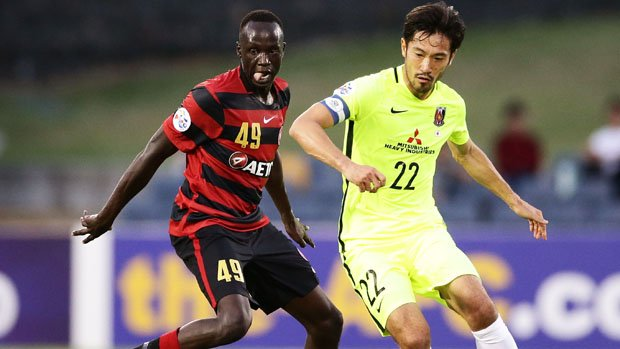 Abraham Majok has signed a senior deal with Western Sydney Wanderers.