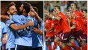 Sydney FC (2016/17 season) and Brisbane Roar (2010/11 season).