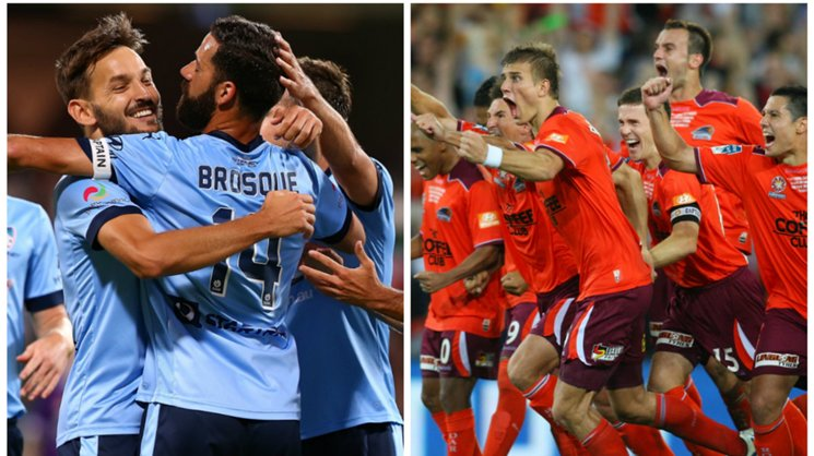 Sydney FC (2016/17 season) and Brisbane Roar (2010/11 season).