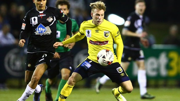 New recruit Andrew Hoole has been in red-hot form during pre-season for Central Coast Mariners.