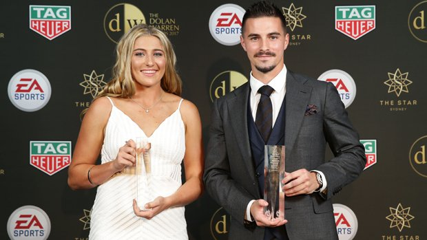 Jamie Maclaren has been named the Hyundai A-League NAB Young Footballer of the Year.