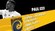Central Coast Mariners goalkeeper Paul Izzo.