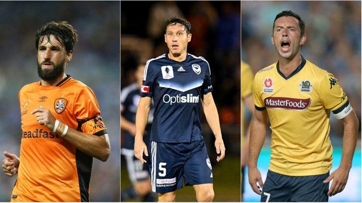 Brisbane Roar's Thomas Broich, Melbourne Victory star Mark Milligan and John Hutchinson from the Mariners are among the best midfielders in Hyundai A-League history.