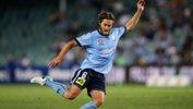 Sydney FC tackle Macarthur Rams on Tuesday night.