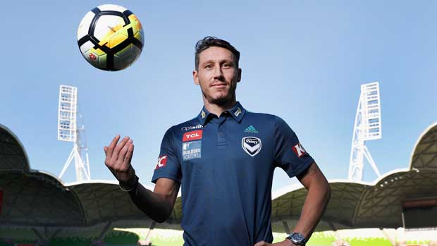 Caltex Socceroo Mark Milligan is back in the Hyundai A-League after signing with Melbourne Victory.