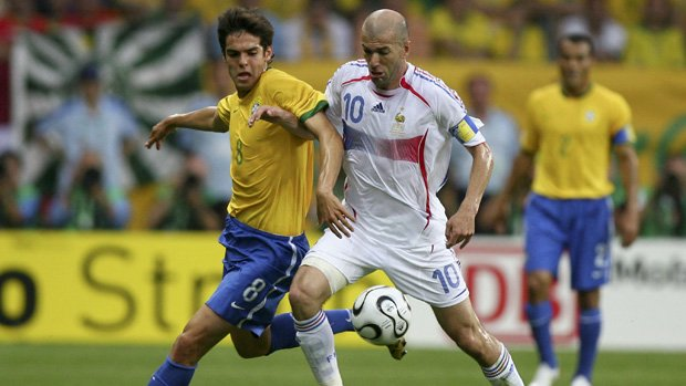 Zinedine Zidane playing for France at the 2006 FIFA World Cup.