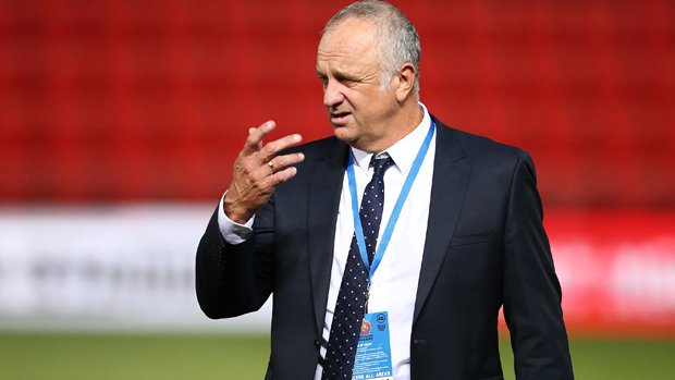 Graham Arnold looks on following his side's 2-2 draw with Sydney FC.