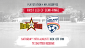 The Young Reds Reserves took a commanding 2-0 lead in the two-legged Major Semi Final against MetroStars.
