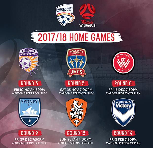 2017/18 W-League Home Fixtures