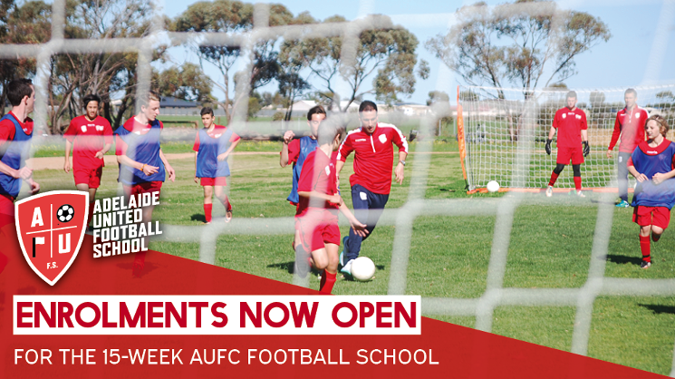 Be part of the Adelaide United Football School for 2016/17!