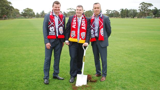 First soil turns on new adelaide united training ground for Topsoil adelaide