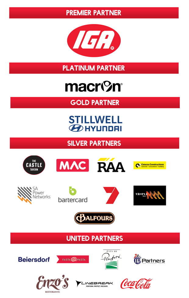 2017/18 official Adelaide United partners