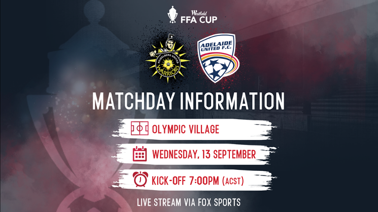 The Reds face Heidelberg United in the Quarter Finals of the Westfield FFA Cup on Wednesday, 13 September.