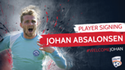 Danish winger Johan Absalonsen has joined the Reds for the Hyundai A-League 2017/18 season.