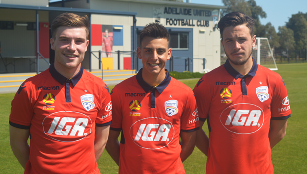 Youth Team players Apostolos Stamatelopoulos, Kristin Konstandopoulos, and Ryan Strain have joined the Reds