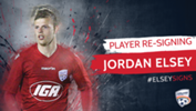 Jordan Elsey has re-signed with the Reds on a one year deal.