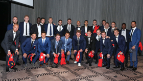 Adelaide United's 2017/18 squad shirt presentation