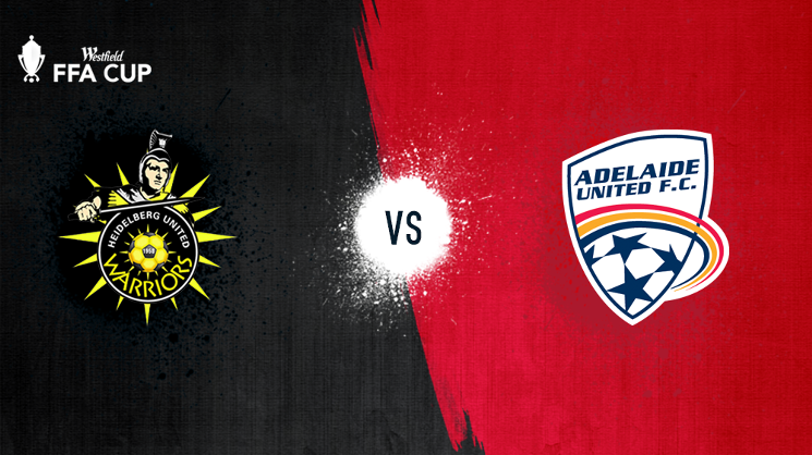 Adelaide United travel to Meblourne to face Heidelberg United in the Quarter Finals of the Westfield FFA Cup on Wednesday night.